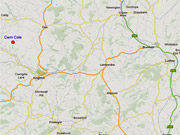 Map to Self-Catering Accommodation near Ludlow